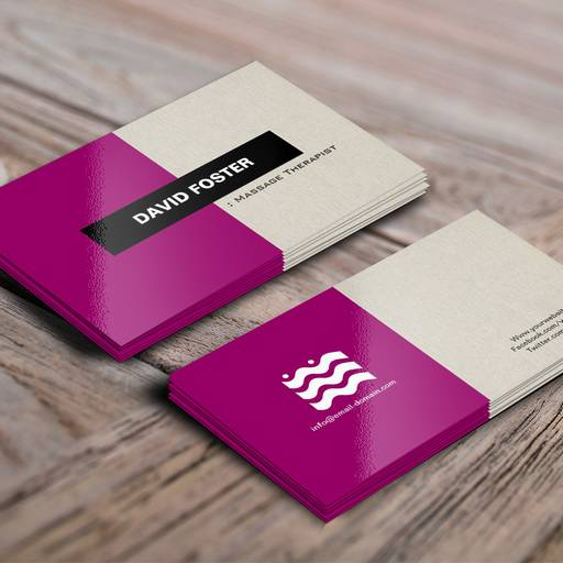 Massage therapist simple elegant stylish business card template accmission Images