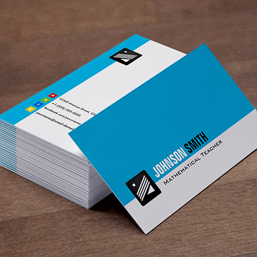 Customizable Mathematical Teacher - Personal Aqua Blue Business Card