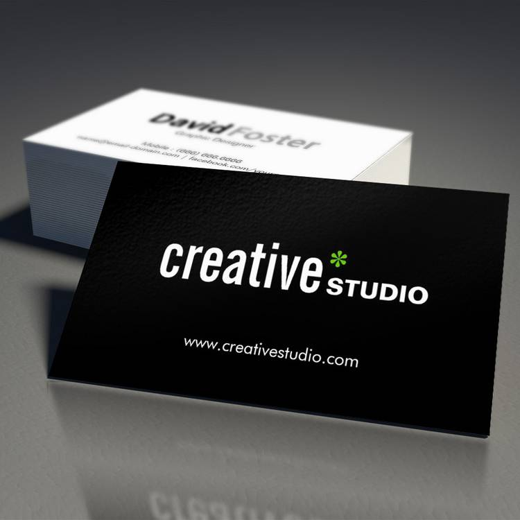 Customizable Modern Corporate - Minimal Black and White Business Card Template