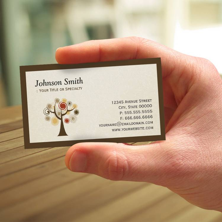Modern Nature - Tree of Life Business Card Templates