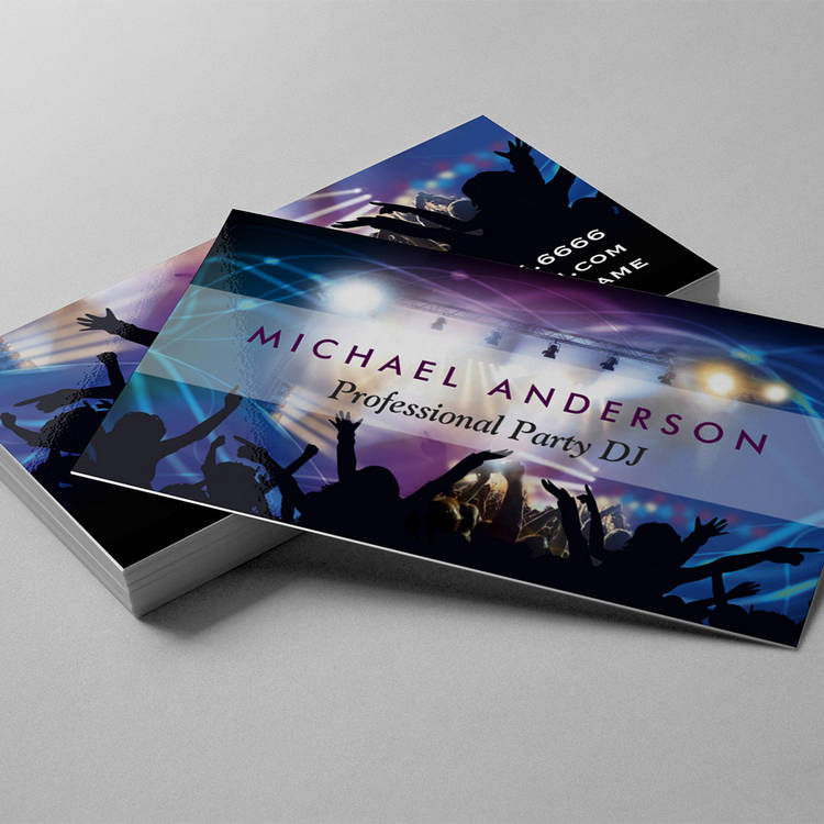 Customizable Music DJ Party Concert Planner - Modern Stylish Business Cards
