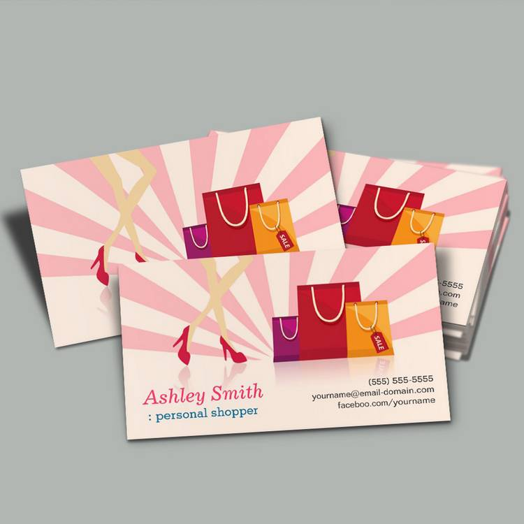 Customizable Personal Shopper Business Cards