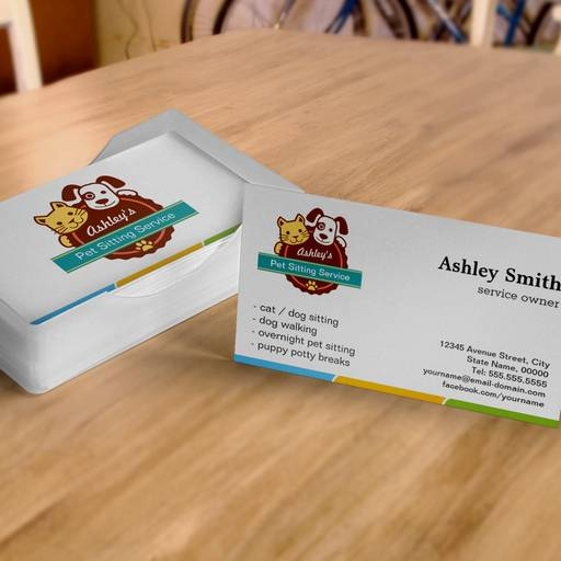 Customizable Pet Sitting Service Business Cards