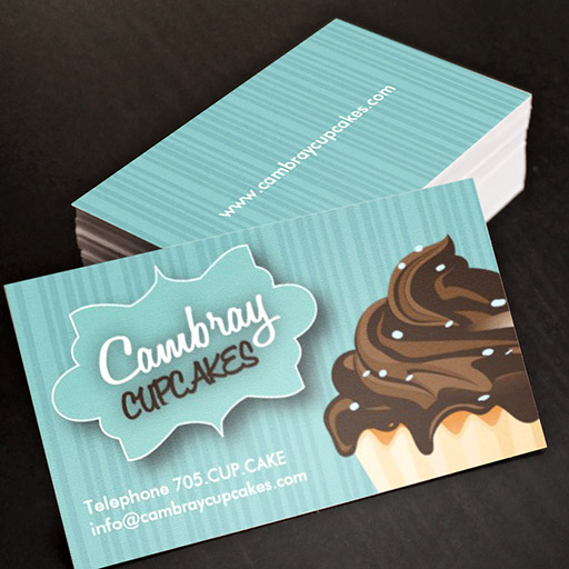Hello Nice To Meet You Personal Social Profile Business Card - Cupcake business card template