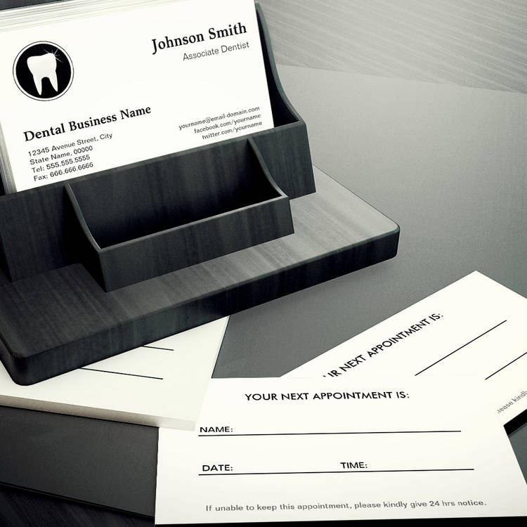 Customizable Professional Dentist - Dental Care Appointment Business Card