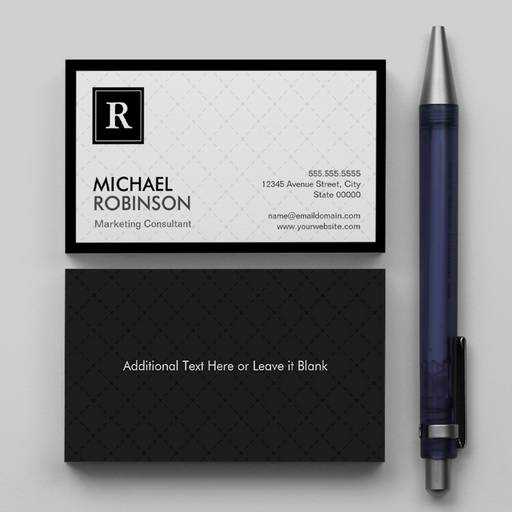 Customizable Professional Modern Diamond Grid Monogram Logo Business Card Template