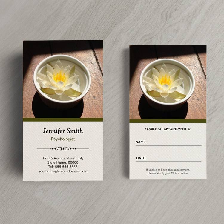 Customizable Psychologist - Elegant Natural Theme Business Card Templates