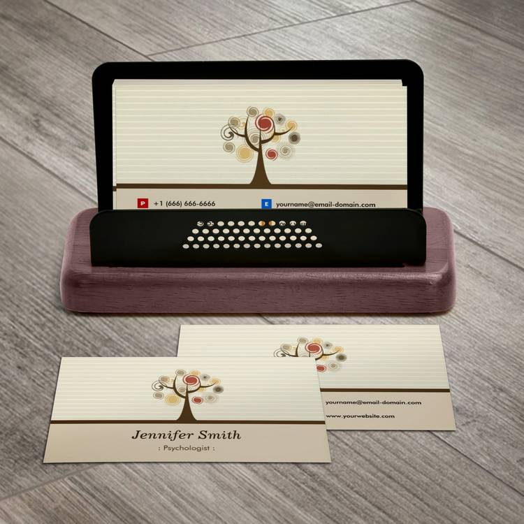 Customizable Psychologist - Elegant Natural Theme Business Card