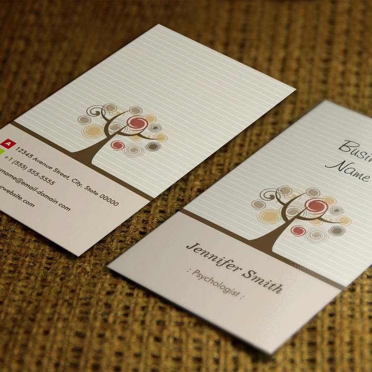 Customizable Psychologist - Stylish Natural Theme Business Cards
