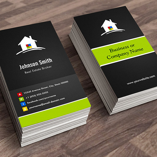 Customizable Real Estate Broker - Premium Creative Innovative Business Card Templates