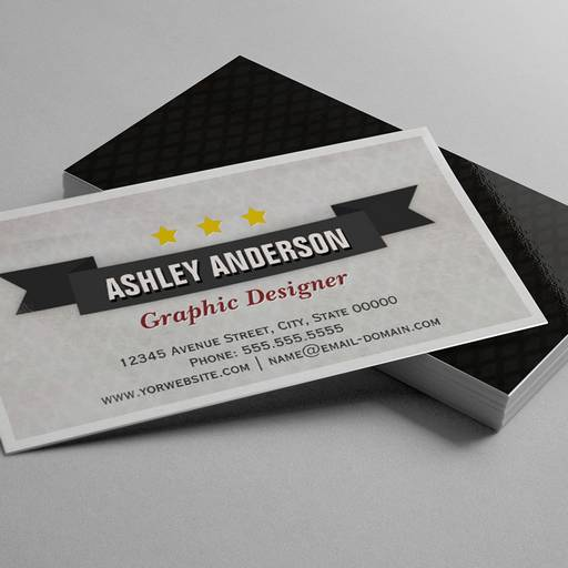 Customizable Retro Grunge Black and White Business Cards