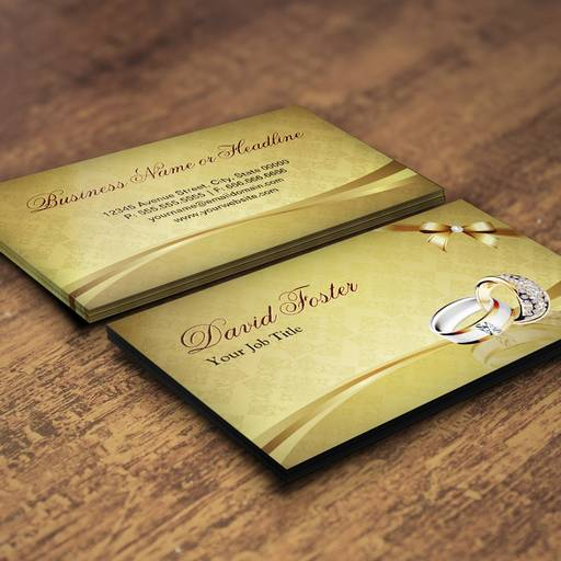 Customizable Ring Diamond Gold Jeweler Jewelry Jewellery Business Card Template