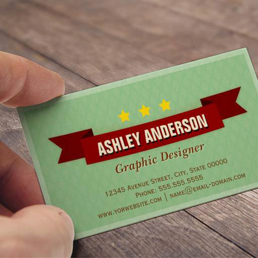 Customizable Simple Classic Retro Style - Personalized Business Cards