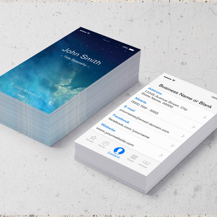 Customizable Simple Generic Flat UI Style - Unique Designed Business Cards