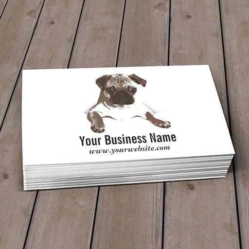 Customizable Simple Pug Pet Care/Clinic Business Card