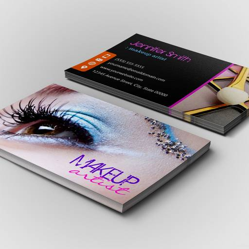 Customizable Stylish Eye Shadow - Makeup Artist Business Card Template