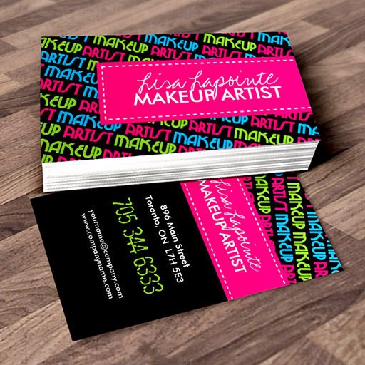 Customizable Stylish Makeup Artist Business Cards