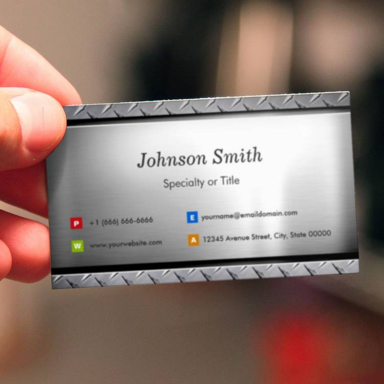 stylish platinum look professional customizable business card