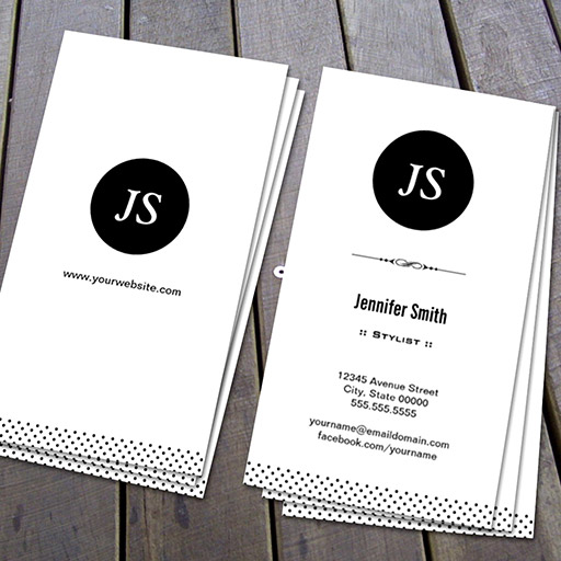 Customizable Stylist - Clean Black White Business Card