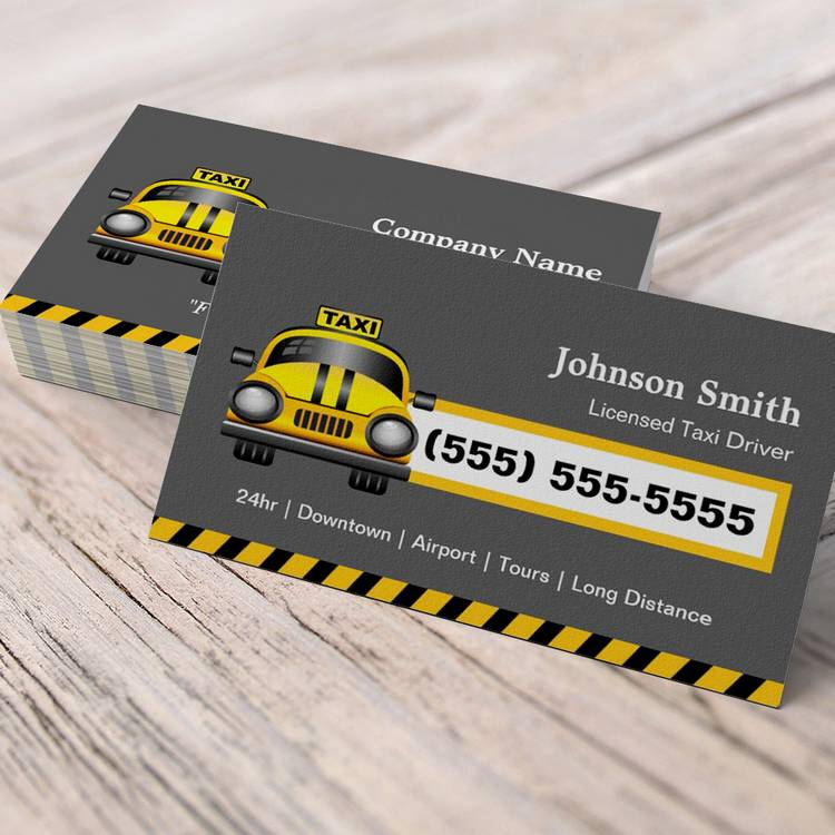 Customizable Urban Taxi Driver - Yellow Cap Business Cards