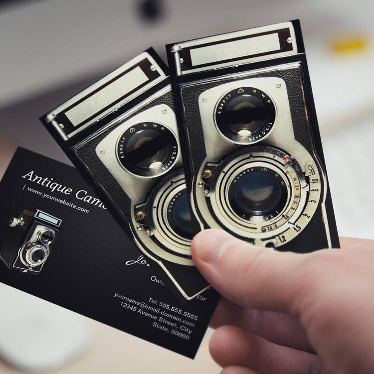 Vintage Antique Camera Collector Store Business Card Templates