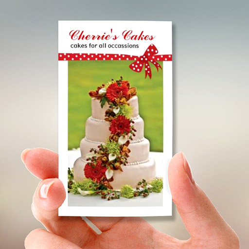 Customizable Wedding Cake Designer Business Cards