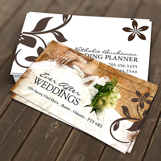 Customizable Wedding Planner Business Card